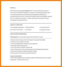 7 photography resume example address example