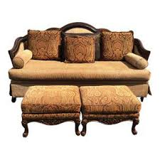 vintage u0026 used orange standard sofas chairish
