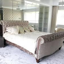 Velvet Sleigh Bed Velvet Sleigh Bed Lovestreeteats