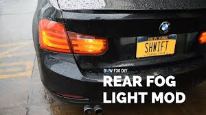 Bmw F30 Rear Fog Light Mod Diy Youtube