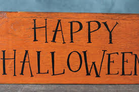 happy halloween wood sign the weed patch