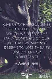 austen s thanksgiving prayer modern mrs darcy