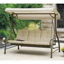 Patio Swing Covers Replacements 3 Seat Swing With Canopy Roselawnlutheran