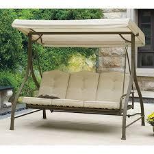 mainstays 3 seat porch u0026 patio swing tan relaxing hammock