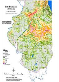 of illinois map illinois state geological survey drift thickness map isgs