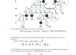 23 pedigree analysis worksheet idiots guide to analysing pedigree