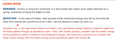 start with the conservation of energy equation substitute expressions for the block s kinetic energy and the