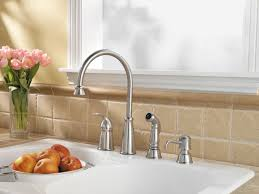 pfister avalon 1 handle 4 hole high arc kitchen faucet w side avalon stainless kitchen