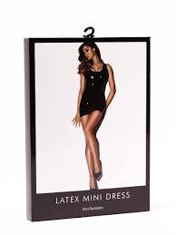 ann summers womens latex mini dress round neck black