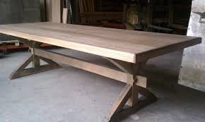making a trestle table custom atlanta trestle table blog eutree forest free wide plank