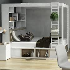4you design 4you 4 poster bed with storage shelves in white single beds