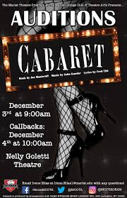 cabaret auditions mccta