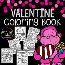 free valentine coloring pages creative clips clipart tpt