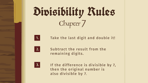 divisibility rules 7 u2013 made easy