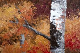 autumn gold u201d close up detail of texture acrylic painting on