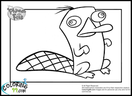 phineas and ferb perry the platypus coloring pages coloring pages