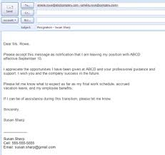 ideas of how to write an email letter of resignation on worksheet