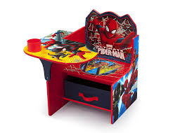 amazon com delta children chair desk with storage marvel spider