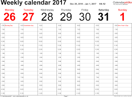 planner page templates weekly calendar 2017 uk free printable templates for word word template 1 weekly calendar 2017 landscape orientation 53 pages 1 calendar