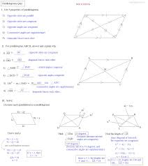 properties of parallelograms worksheet math plane parallelogram parking space