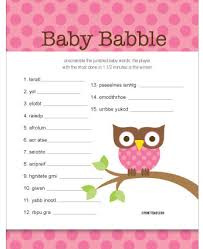 Free Baby Shower Scramble Games - cute baby shower games