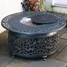 Gas Firepit Tables Bellagio Cast Aluminum Gas Pit Hayneedle