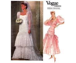 vogue wedding dress patterns 80s ruffled hem wedding dress pattern vogue bridal original