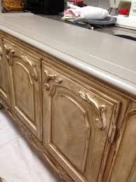 chalk painted buffet gets glazed the treasured home