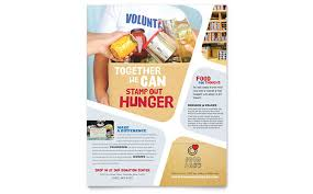 Volunteer Brochure Template by Food Bank Volunteer Flyer Template Design