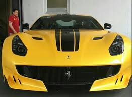 Ferrari F12 Yellow - hussein musallam s car collection saudi arabia cars