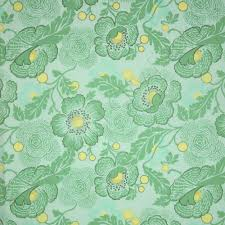 Amy Butler Home Decor Fabric by Amy Butler Midwest Modern 2 Fresh Poppies Sky Green Fabric