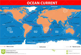 Map Of The Oceans Ocean Surface Currents Royalty Free Stock Photography Image
