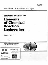 elements of chemical reaction engineering 4th ed fogler solution