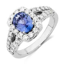 tanzanite stones rings images With tanzanite 1 carat tw of diamonds in 14ct white gold jpg