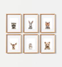 Woodland Animal Nursery Decor by Woodland Nursery Animal Prints Printed U0026 Shipped Woodland