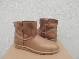 ugg australia mini unlined metallic gold leather boots us