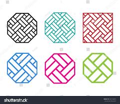 set octagon chinese pattern window frame stock vector 441148423 set of octagon chinese pattern window frame