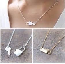 gold lock necklace images Jewels necklace cute lock fashion jewelry girly bff silver jpg