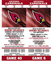 printable birthday party invitation card arizona cardinals