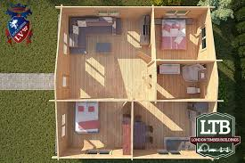 2 bedroom log cabin 2 bedroom residential type log cabin richmond range 8m x 8m ric037