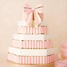 Origami Wedding Cake - origami bow cake topper martha stewart weddings