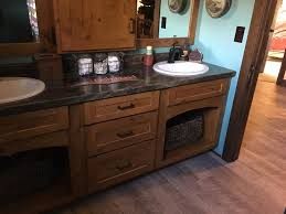 Rustic Alder Kitchen Cabinets Rustic Alder Cabinets With Slate Sequoia Formica Top By Swita