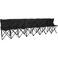 Bench 8 Trademark Innovations Portable 8 Seater Sports Bench Walmart Com