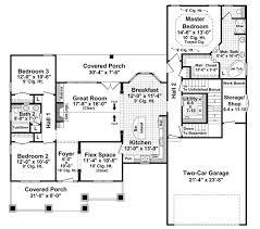3 Bedroom 2 Bath Open Floor Plans Craftsman Style House Plans Plan 2 306