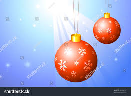red christmas ornaments on bright background stock vector 43304218