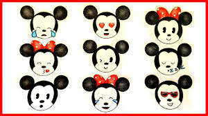 draw michey u0026 minnie mouse emojis
