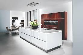 agencement de cuisine professionnelle cuisine moderne contemporaine polarweiss eiche sherry terrassin