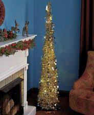 artificial tinsel christmas pre lighted trees ebay