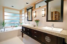 Free Standing Bathroom Sink Cabinets by Asian Bathroom Sink Cabinet Milwaukee With Gold Wall Sconces