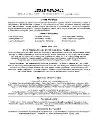 law enforcement resume resume example